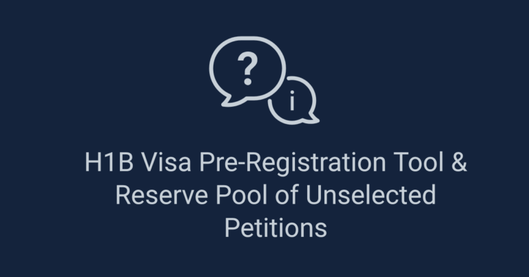 The Best Feature of H1B Visa Pre-Registration Tool is the Reserve Pool (+ 5 FAQ's)
