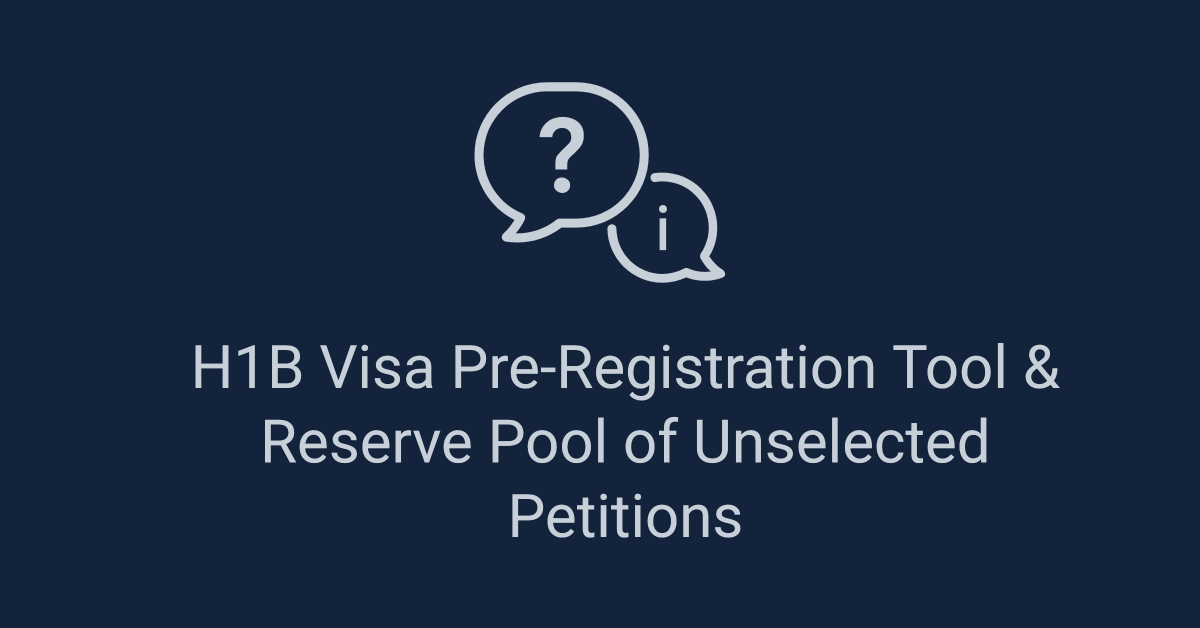 h1b visa pre-registration tool new h1b lottery