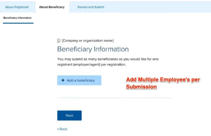 5 - h1b registration tool add employee
