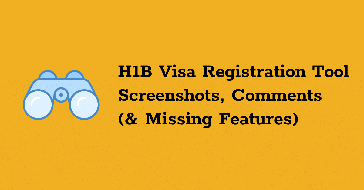 h1b visa registration tool screenshots features