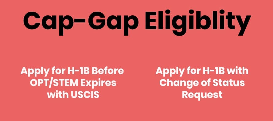 opt stem opt cap gap eligiblity