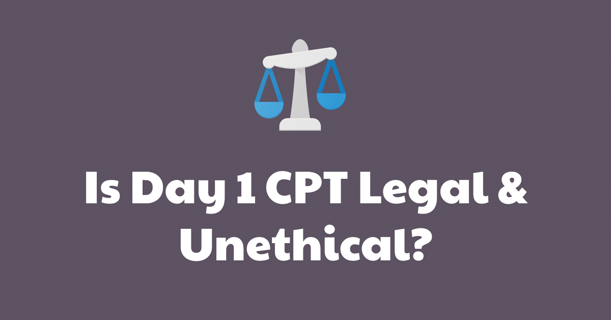 day 1 cpt universities legal