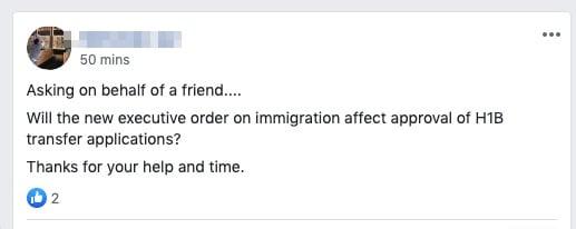 immigration suspension h1b visa transfer impact