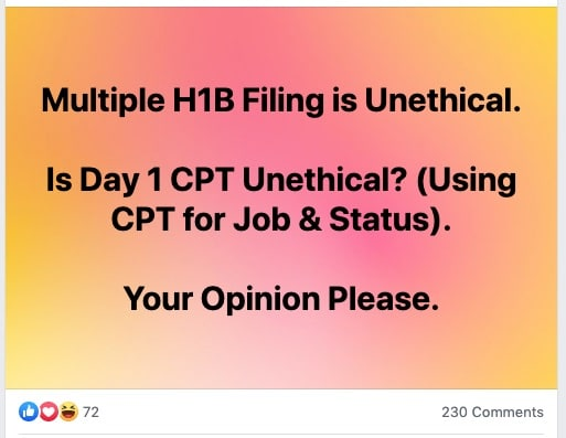 is day 1 cpt college university legal illegal ethical