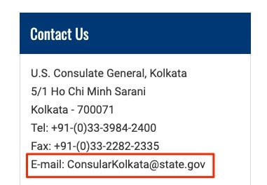 Contact Information | U.S. Embassy & Consulates in India