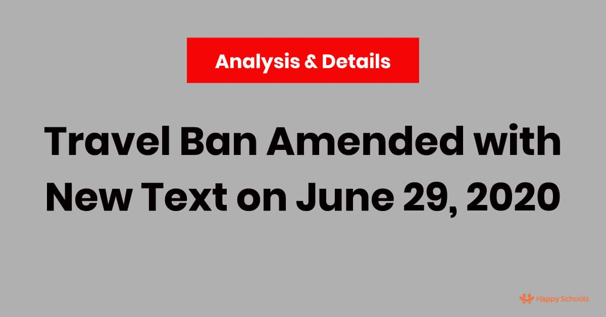 travel ban h1b h4 visa l1 j1 h2b amended june 29 2020