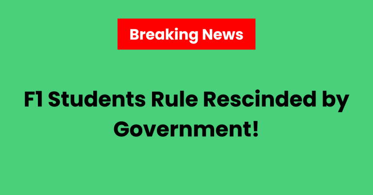 Yay! F1 Students Rule Rescinded by Government