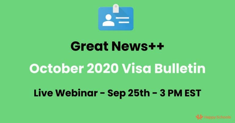 Visa Bulletin October 2020 – Analysis, Predictions – Good & Great News