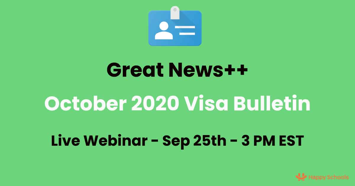 Visa Bulletin October 14 - Analysis, Predictions - Good & Great News