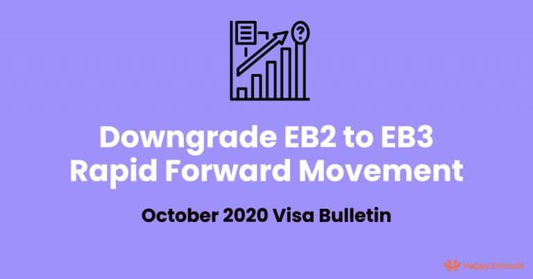 EB2 to EB3 Downgrade and Rapid Forward Movement Explained Based on October 2020 Visa Bulletin