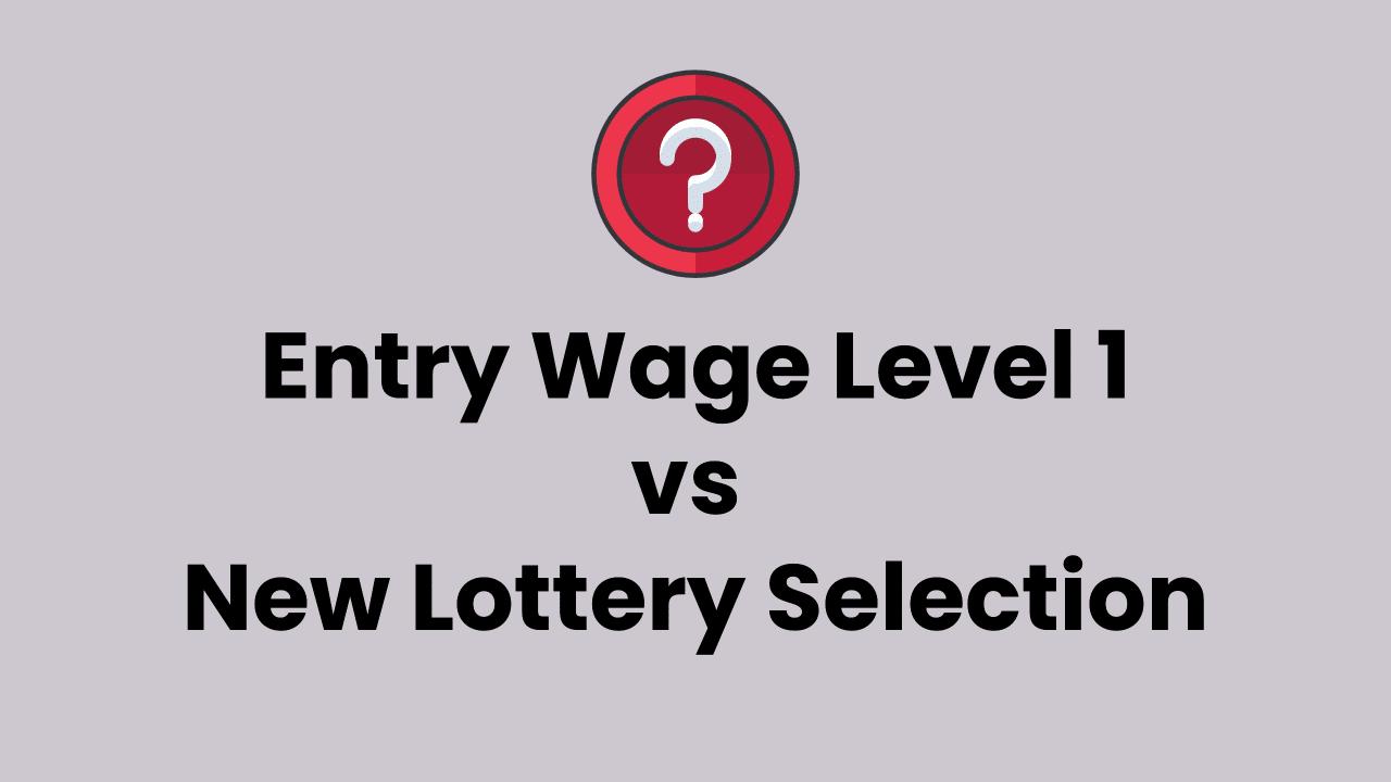 entry level wage level 1 chances