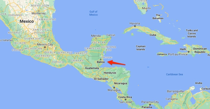 Belize Country Location
